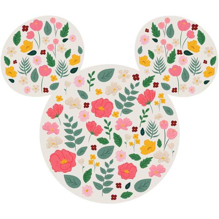 Wall tattoo Mickey Head Wildflowers
