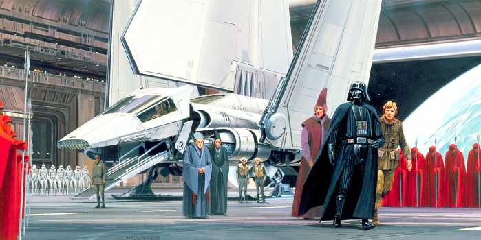 Digital wallpaper Star Wars Classic RMQ Death Star Shuttle Dock