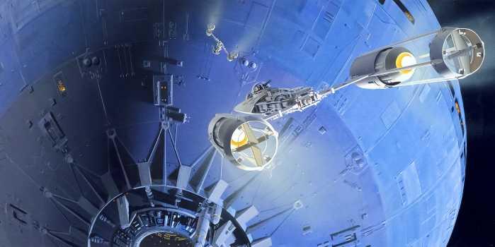 Digital wallpaper Star Wars Classic RMQ Death Star Assault