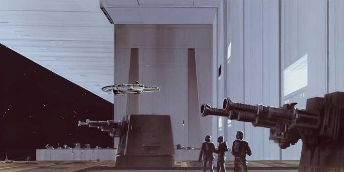 Digital wallpaper Star Wars Classic RMQ Death Star Hangar