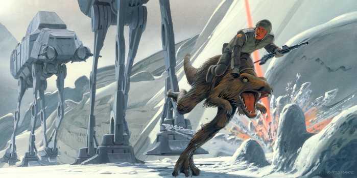 Digital wallpaper Star Wars Classic RMQ Hoth Battle Ground