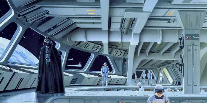 Digital wallpaper Star Wars Classic RMQ Stardestroyer Deck