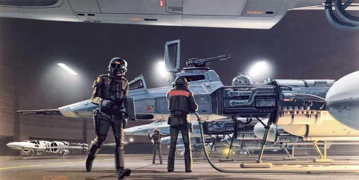 Digital wallpaper Star Wars Classic RMQ Yavin Hangar