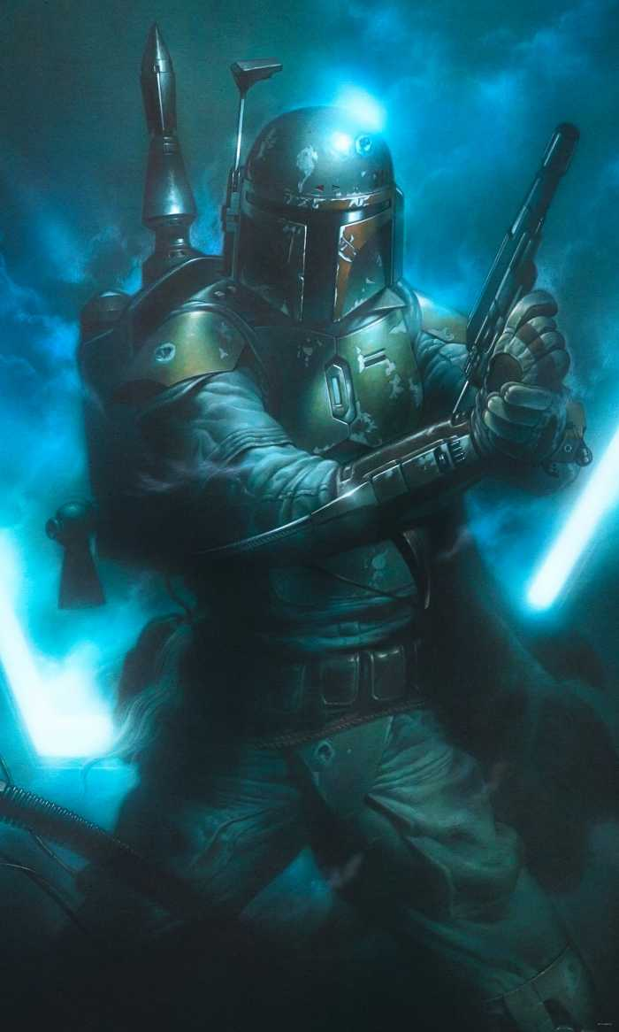 Digital wallpaper Star Wars Classic Bounty Hunter