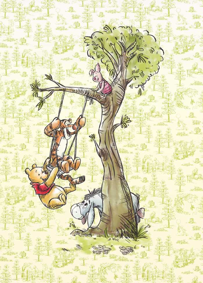Digital wallpaper Winnie Pooh in the wood