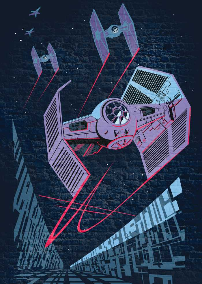 Digital wallpaper Star Wars Classic Concrete TIE-Fighter