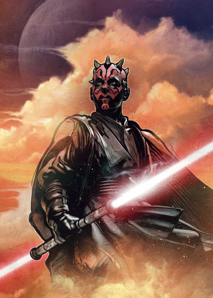 Digital wallpaper Star Wars Classic Darth Maul