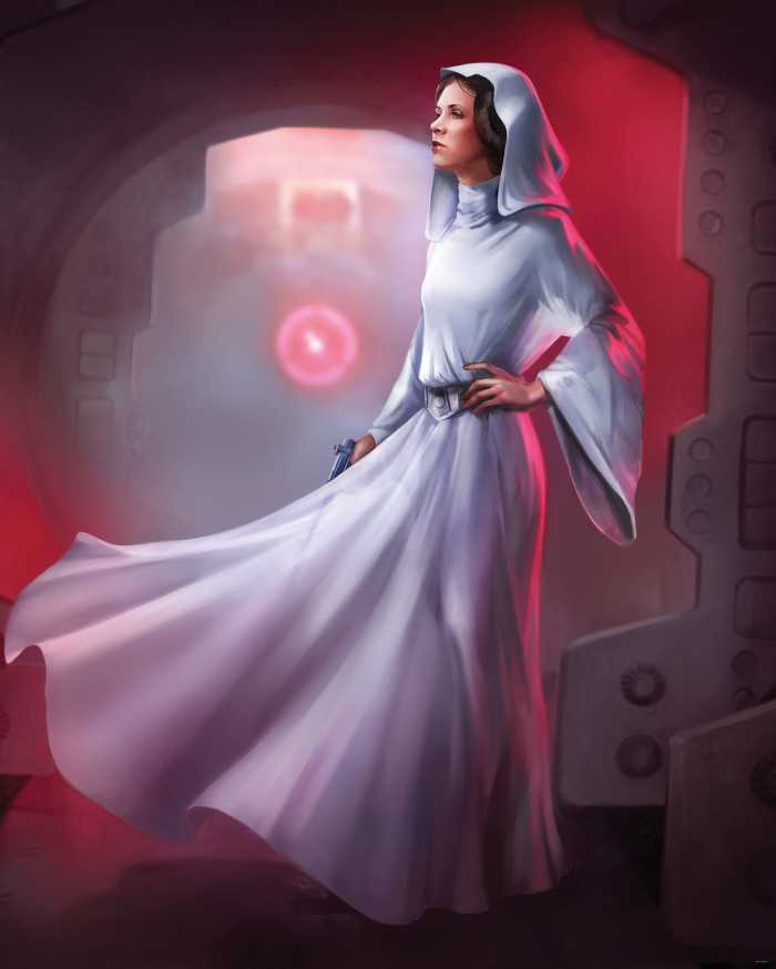 Digital wallpaper Star Wars Classic Leia