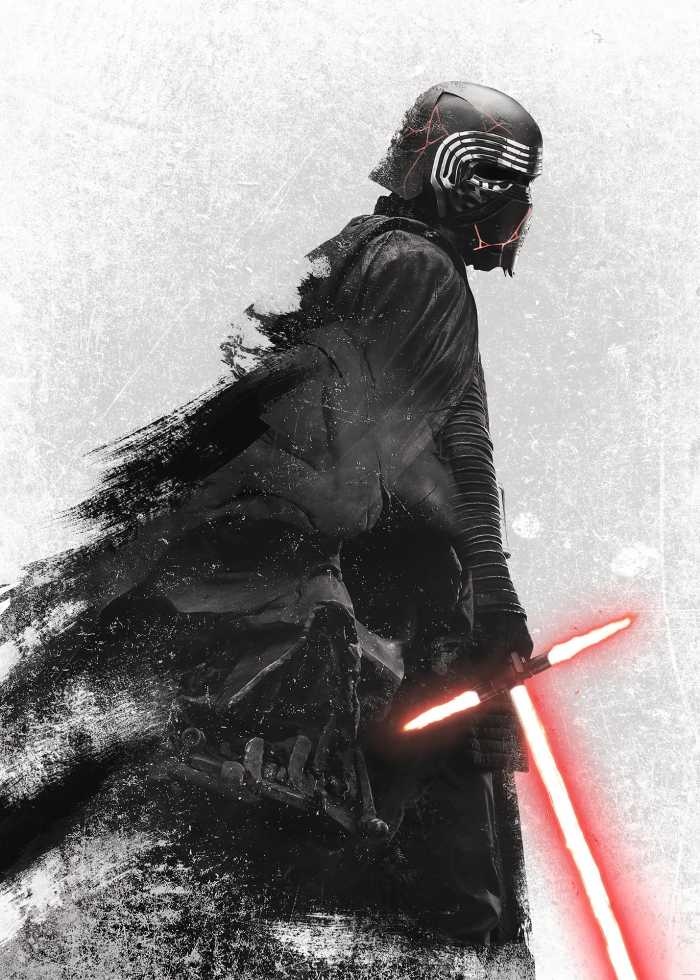 Digital wallpaper Star Wars Kylo Vader Shadow