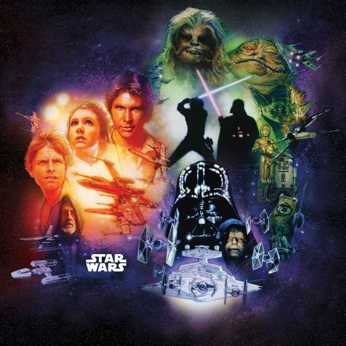 Digital wallpaper Star Wars Classic Poster Collage