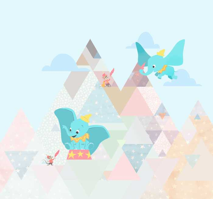 Digital wallpaper Dumbo flying elephant