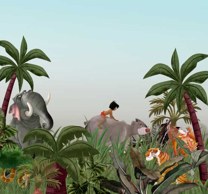 Digital wallpaper Jungle Book