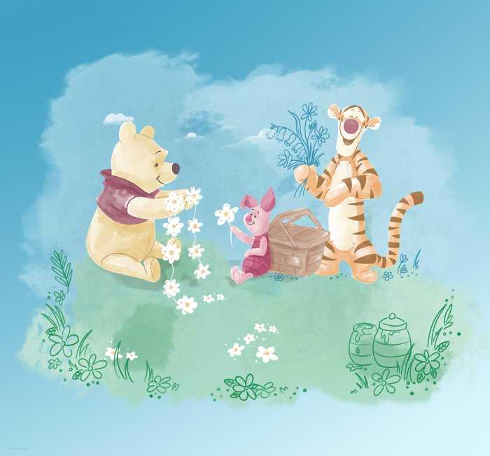 Digital wallpaper Winnie Pooh Picnic