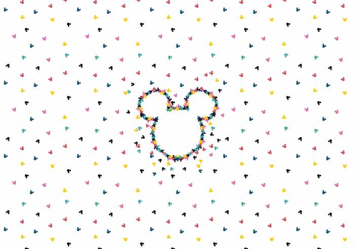 Digital wallpaper Mickey Heads-Up