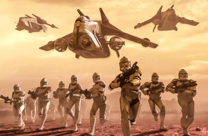 Digital wallpaper Star Wars Classic Clone Trooper