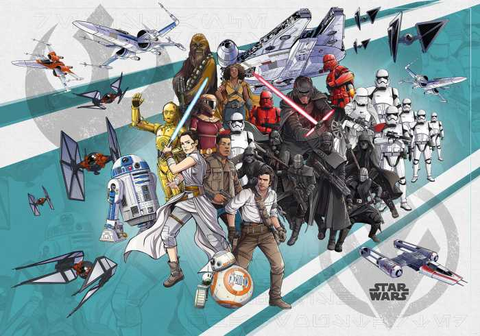 Digital wallpaper Star Wars Cartoon Collage Wide