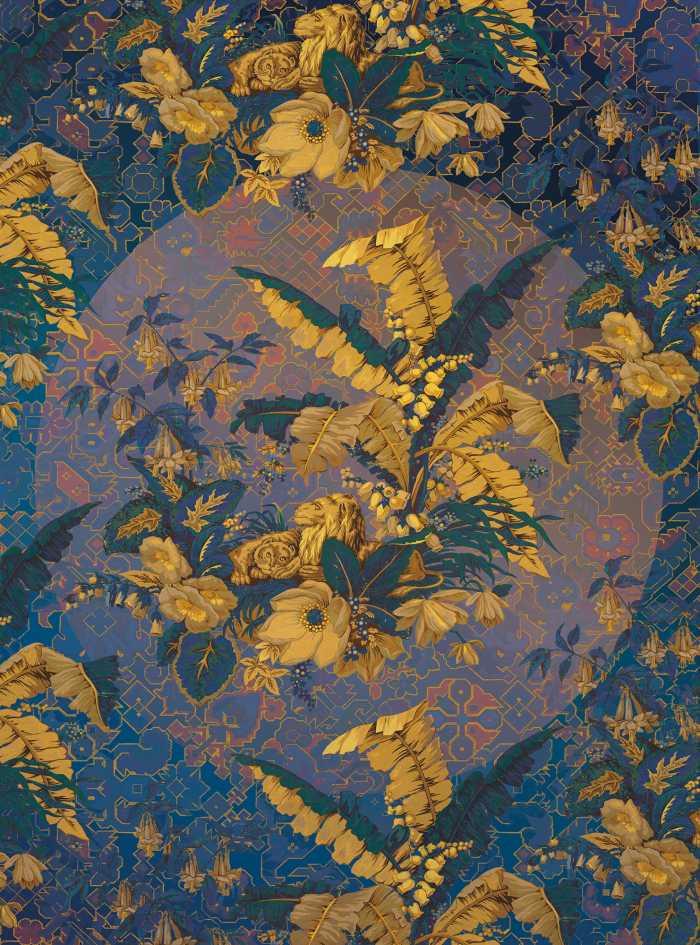 Digital wallpaper Orient d'Or