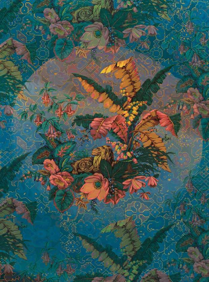 Digital wallpaper Orient Bleu