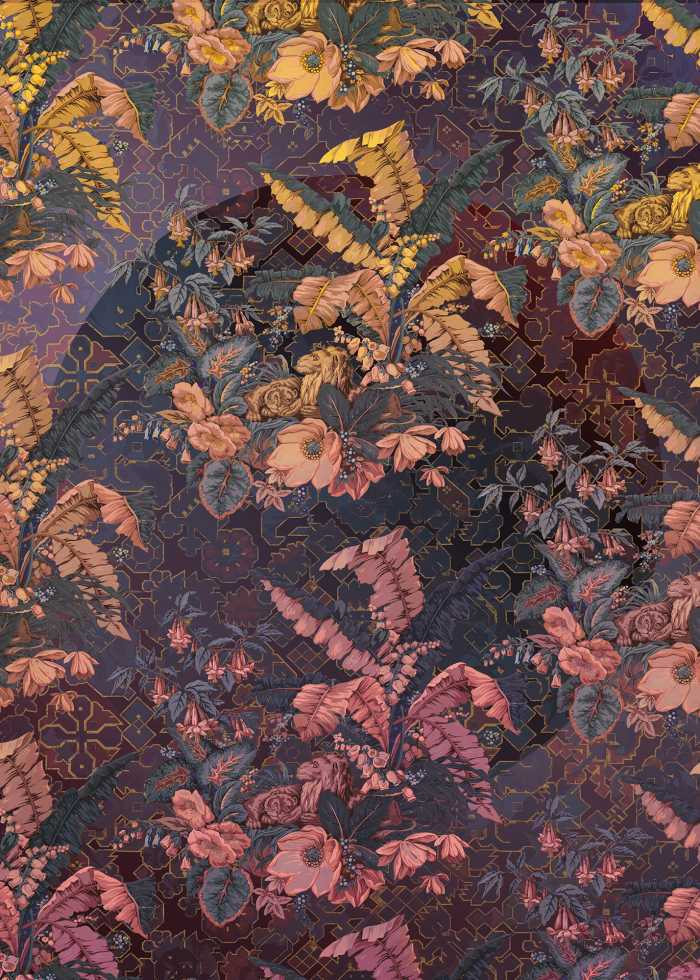 Digital wallpaper Orient Violet