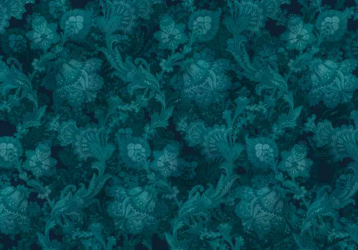 Digital wallpaper Fleurs de Nuit