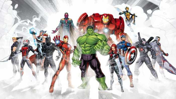 Digital wallpaper Avengers Unite