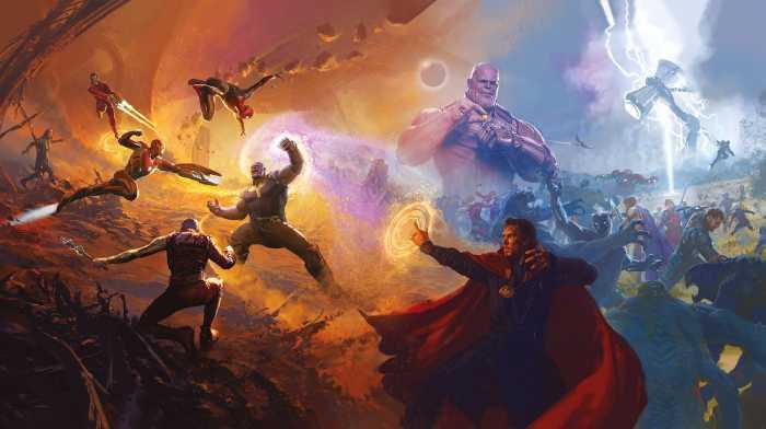 Digital wallpaper Avengers Epic Battles Two Worlds
