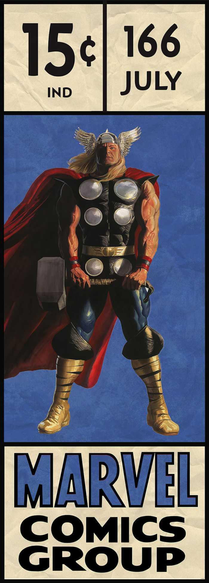 Digital wallpaper Thor Retro Comic Box