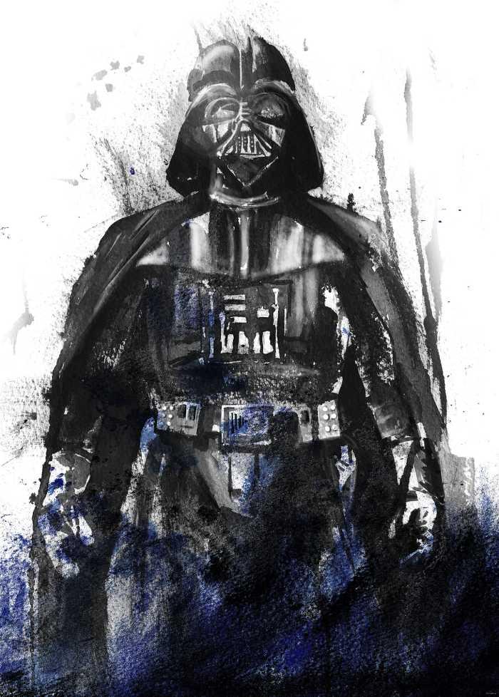 Digital wallpaper Star Wars Watercolor Vader