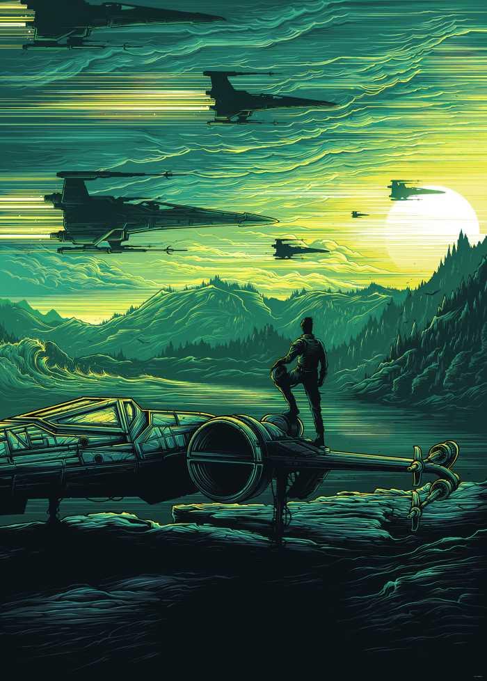 Digital wallpaper Star Wars X-Wing Assault Takodana