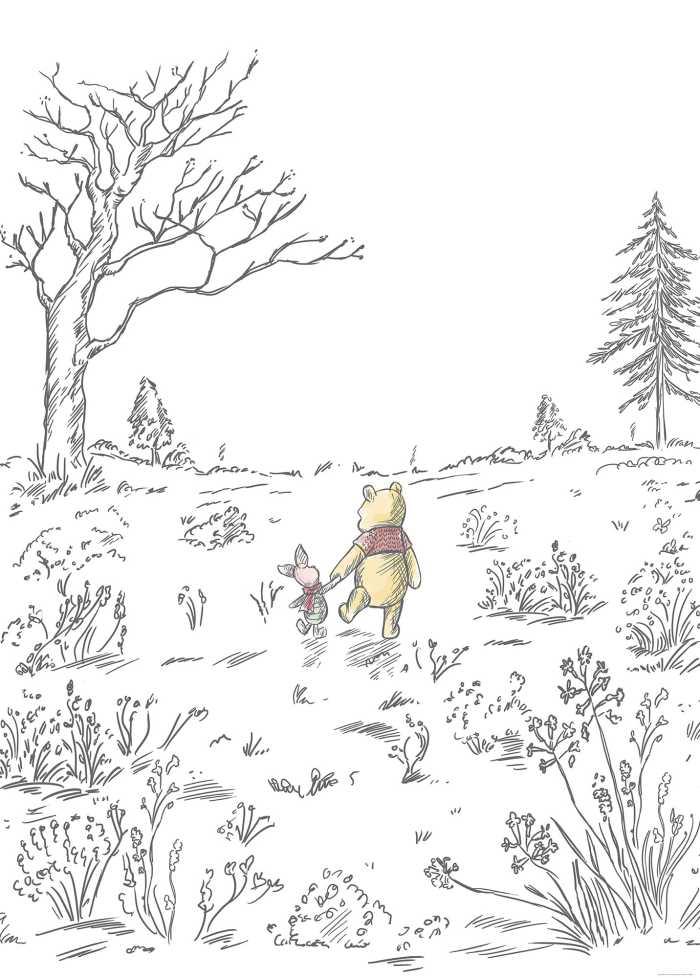 Digital wallpaper Winnie Pooh Walk