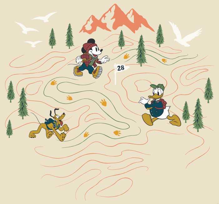Digital wallpaper Mickey Meets the Mountain