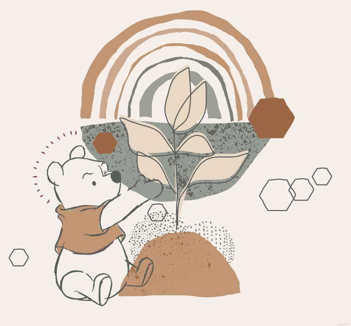 Digital wallpaper Winnie the Pooh Grow