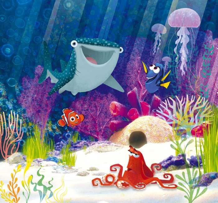 Digital wallpaper Dory Aqua Party
