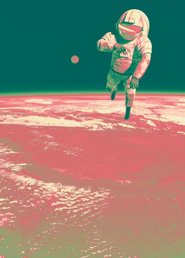 Digital wallpaper Spacewalk