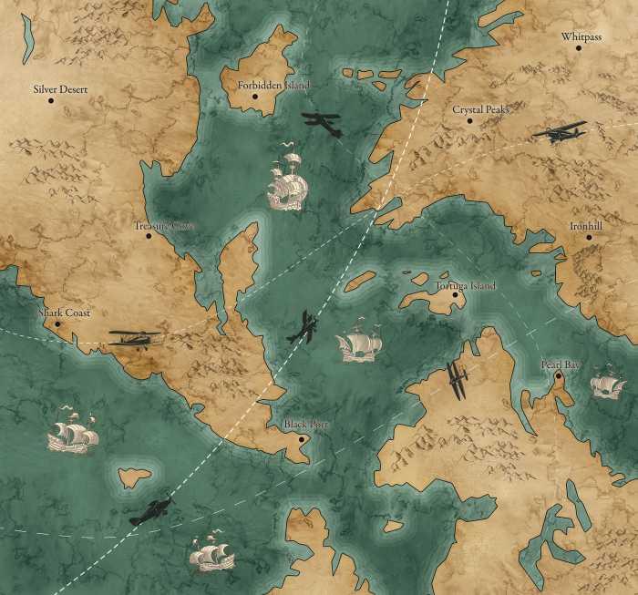 Digital wallpaper Old Travel Map