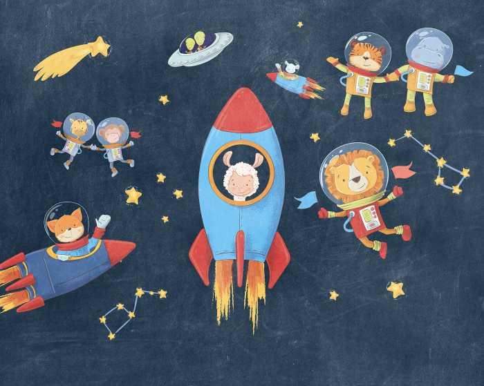 Digital wallpaper Friends in Space
