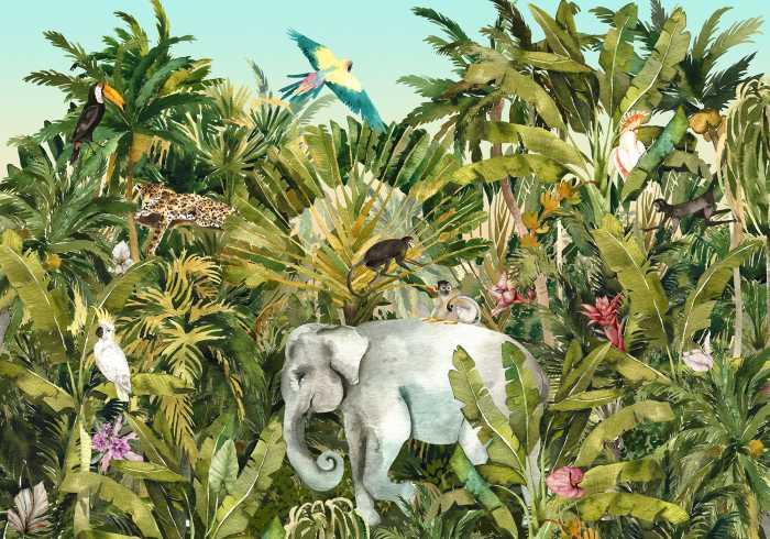 Digital wallpaper Jungle Expedition