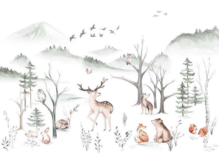 Digital wallpaper Cozy Woods