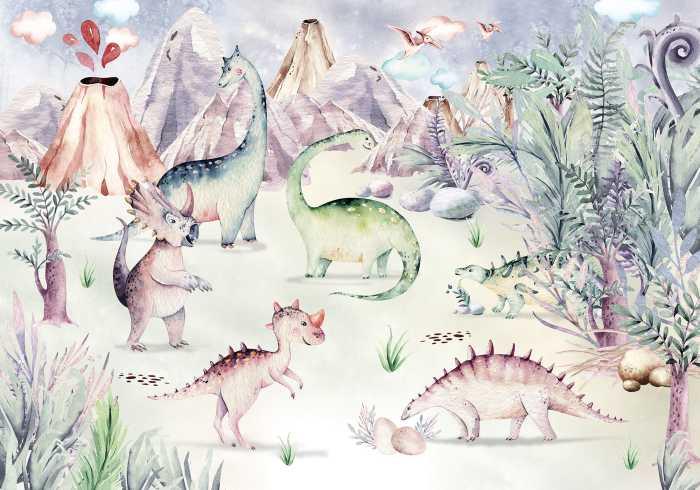Digital wallpaper Dino Playground