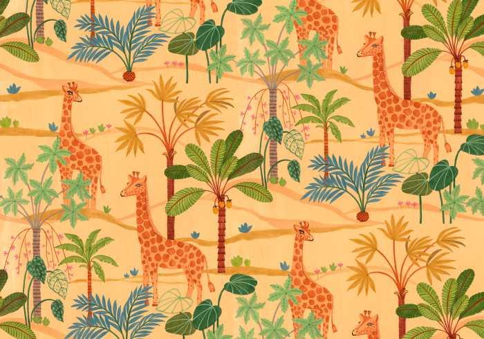 Digital wallpaper Giraffe Crew