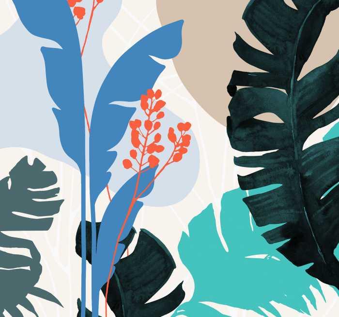 Digital wallpaper Tropical Shapes