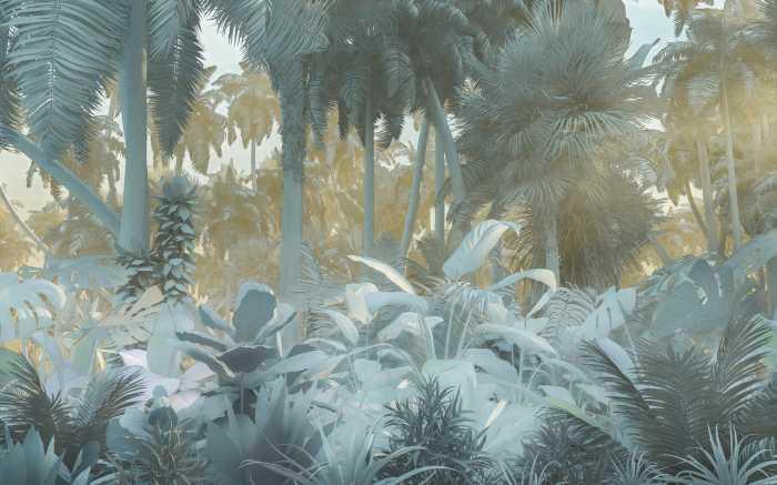 Digital wallpaper Misty Jungle