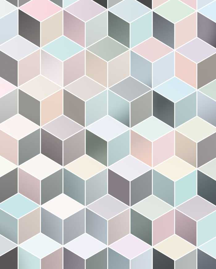 Digital wallpaper Cubes Pastel