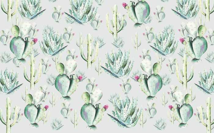 Digital wallpaper Cactus Grey