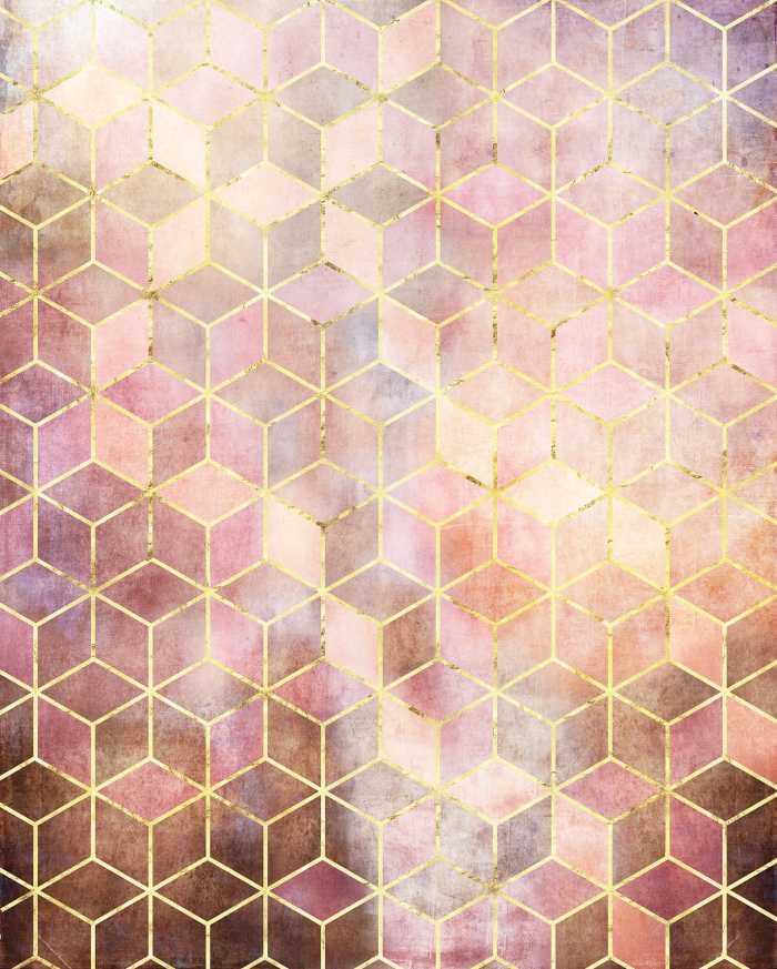Digital wallpaper Mosaik Rosso