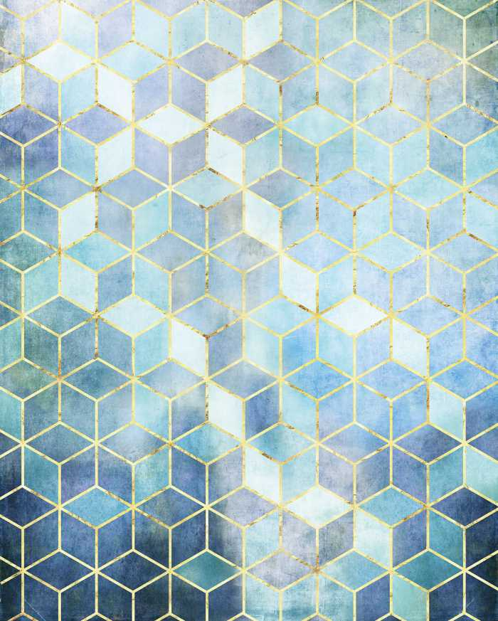 Digital wallpaper Mosaik Azzuro