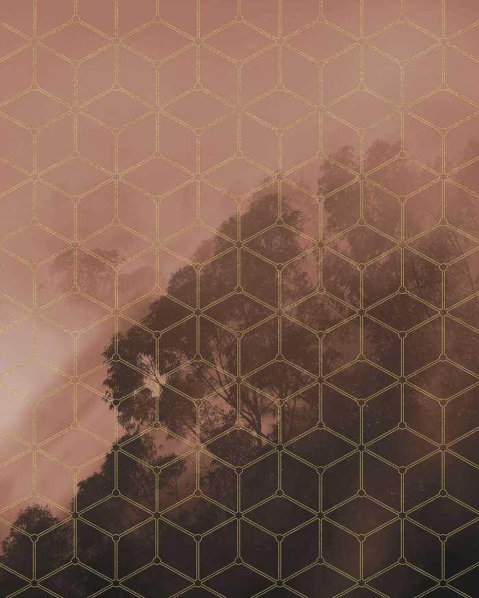 Digital wallpaper Golden Grid