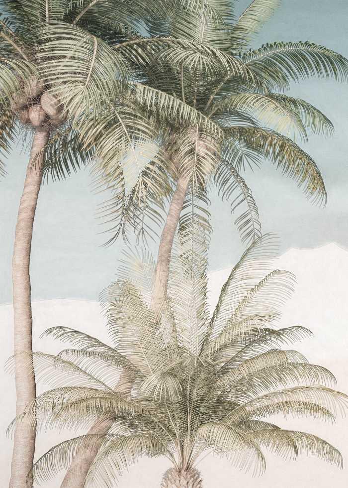 Digital wallpaper Palm Oasis