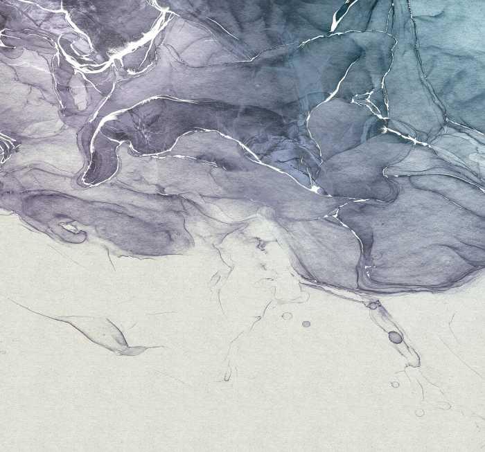 Digital wallpaper Ink Blue Fluid