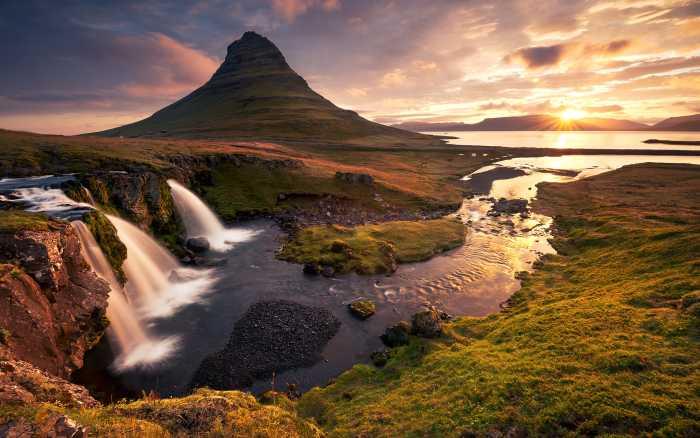 Digital wallpaper Guten Morgen auf Isländisch